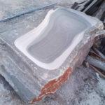 Stone-made basin